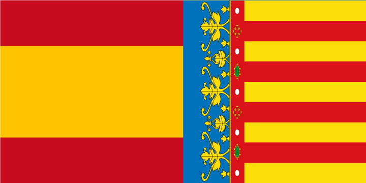 Bandera España y Comunidad Valenciana