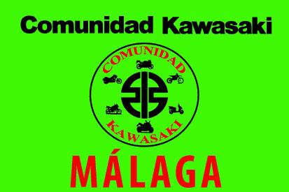 Bandera Comunidad Kawasaki Málaga Verde