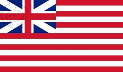 Bandera Compañía Británica de las Indias Orientales (1707-1801)