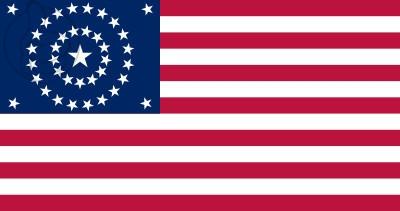 Bandera Estados Unidos Concentric Circles (1877 - 1890)