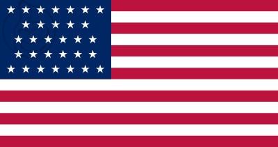 Bandera Estados Unidos (1851 - 1858)