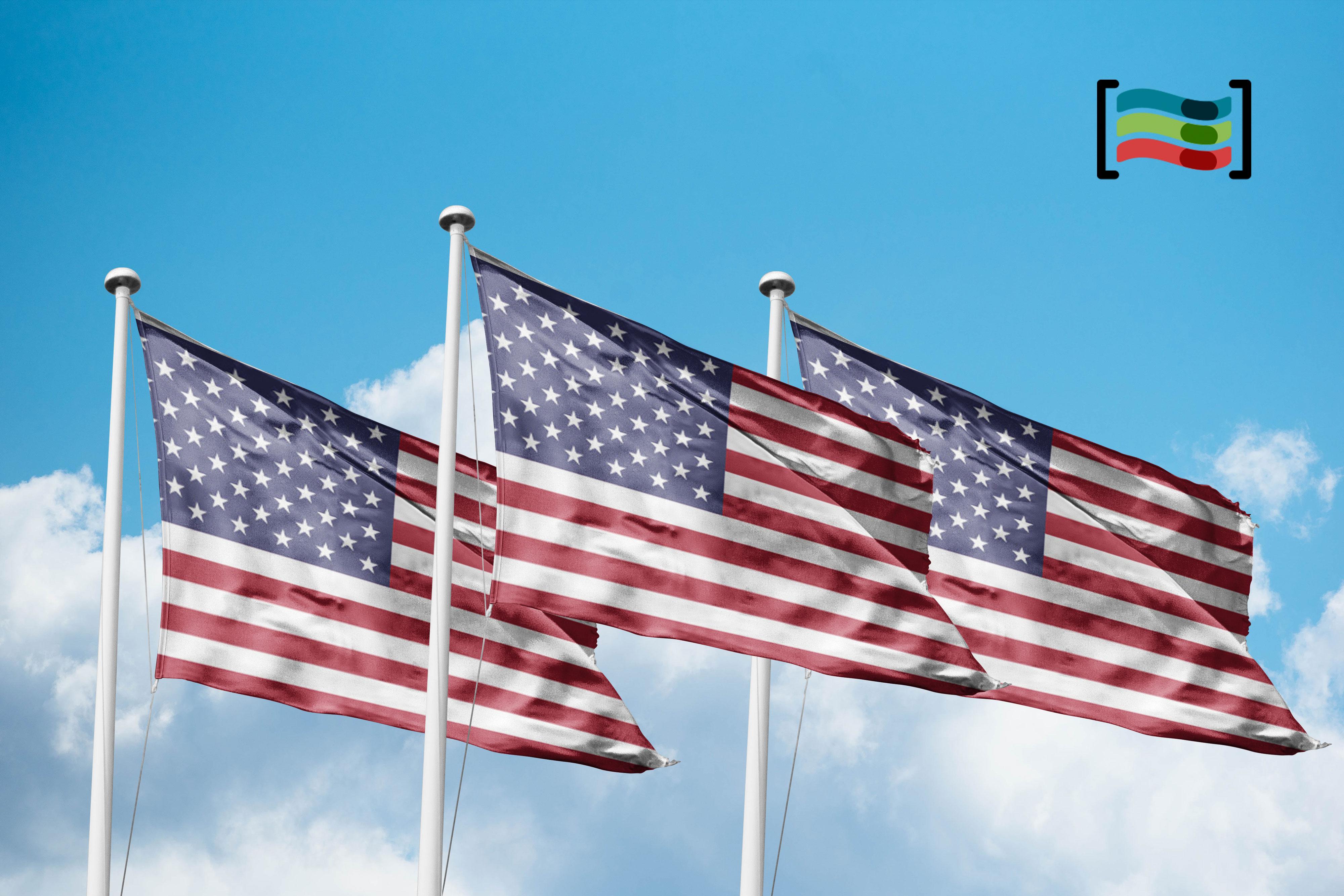 Bandera Pack 3 Banderas Estados Unidos