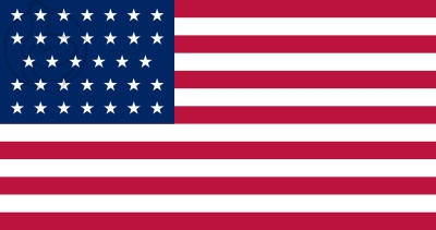 Bandera Estados Unidos (1861 - 1863)
