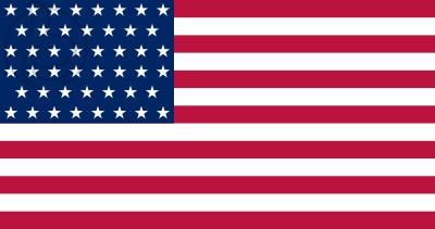 Bandera Estados Unidos (1908 - 1912)
