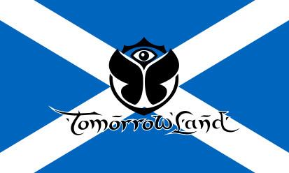 Bandera Escocia Tomorrowland