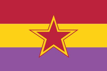 Bandera Republicana Estrella Roja