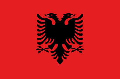 Bandera Albanie