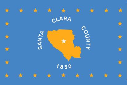 Bandera Condado de Santa Clara