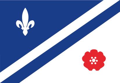 Bandera Drapeau franco-albertain