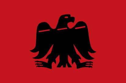 Bandera Arrano Beltza Roja