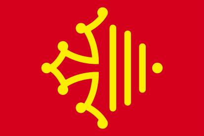 Bandera Región de Occitania