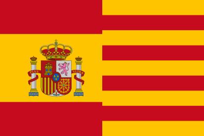 Bandera Officiel Espagne et la Catalogne