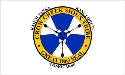 Bandera Crow Creek Tribu