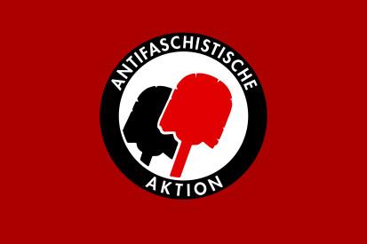 Bandera Antifaschistische Aktion Hamburgo