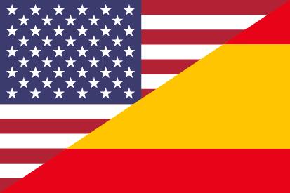 Bandera Estados Unidos y España