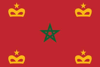 Bandera Enseña naval Marruecos