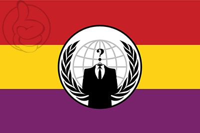 Bandera Anonymous Republicana España