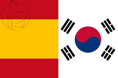 Bandera España vs Corea del Sur