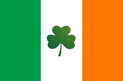 Bandera Irlanda con trebol
