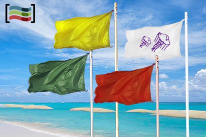 Bandera Paquete cuatro banderas playa