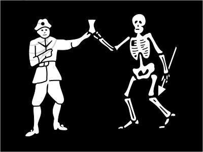Bandera Pirate of Bartholomew Roberts