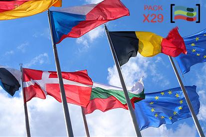 Bandera Pack Banderas Unión Europea