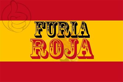 Bandera Furia Roja