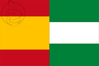 Bandera España y Andalucía
