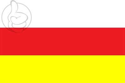 Bandera Osetia del Norte-Alania