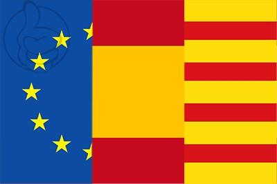 Bandera de Europa Espa�a Catalu�a