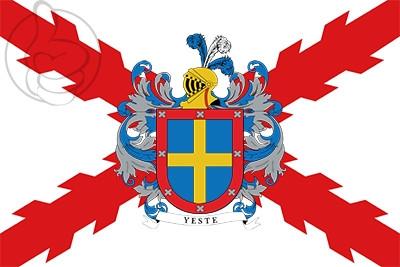 Bandera Yeste y Cruz de Borgoña