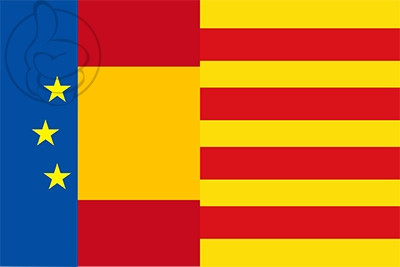 Bandera Europa España Cataluña II
