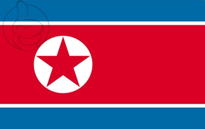 Bandera Coreia do norte