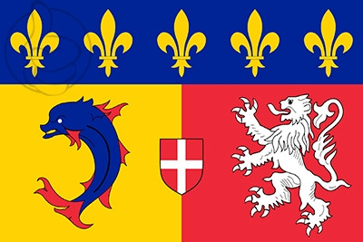 Bandera Ródano-Alpes