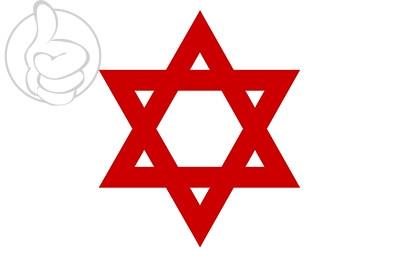 Bandera Estrella de David Roja