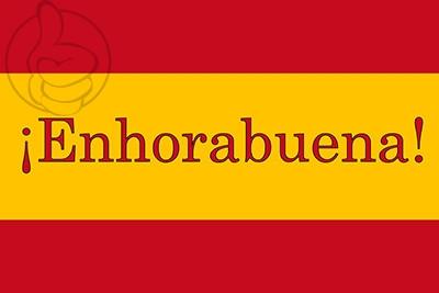 Bandera Enhorabuena