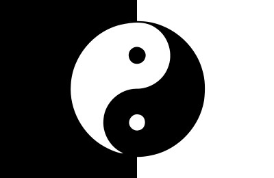 Bandera Yin y yang