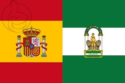 Bandera España y Andalucía C/E