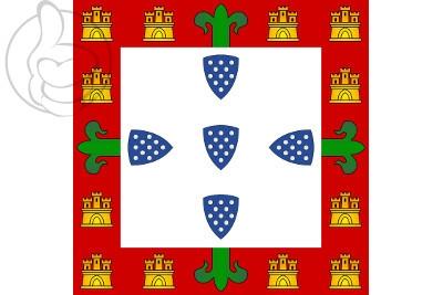 Bandera Portugal (1385 a 1475 y 1479 a 1485)