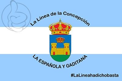 Bandera La Línea de la Concepción Personalizada