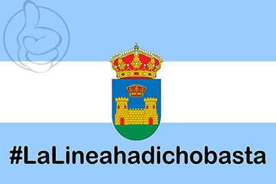 Bandera La Línea de la Concepción Hastag