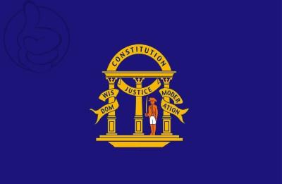 Bandera Georgia anterior a 1879 (no oficial)
