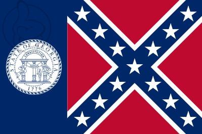 Bandera Georgia 1956 - 2001