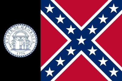 Bandera Georgia 1956 - 2001 franja negra