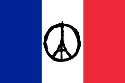 Drapeau de la France avec Tour Eiffel