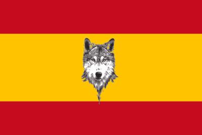 Bandera España con Lobo