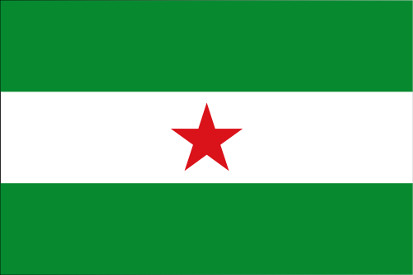 Bandera Andalousie étoilé