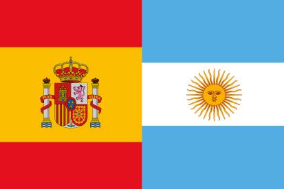 Bandera España Argentina