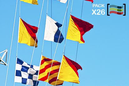 Bandera Banderas naúticas código internacional de señales