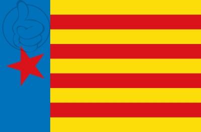 Bandera Estrelada de Esquerra Valenciana